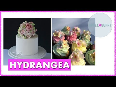 Video: Sugar Hydrangea Tutorial, Wired and for Decorating Cupcakes