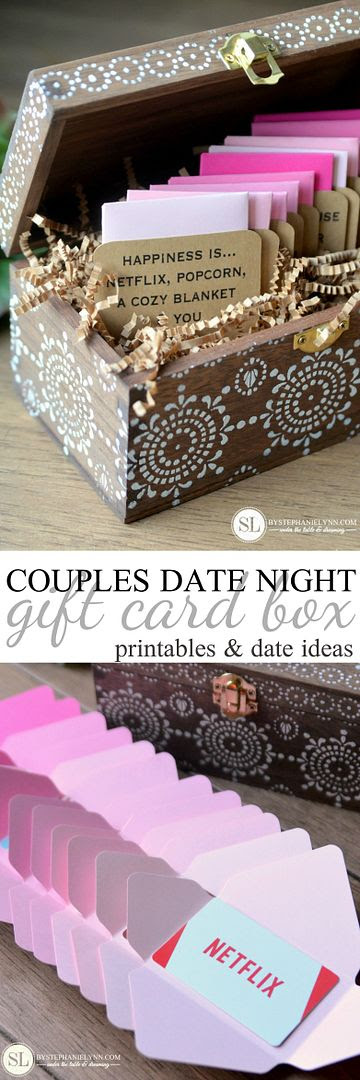 Date Night Gift Card Box 12 Pre Planned Date Ideas For Two