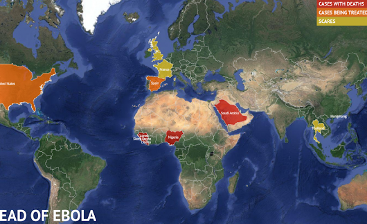 Where Is The Ebola Outbreak Now? Updated Map Of Ebola Virus Outbreak Shows Spread Of Cases Outside West Africa