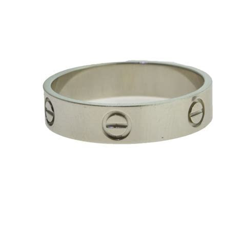 Cartier LOVE Wedding Band / Ring in Platinum, Size 12 1/4