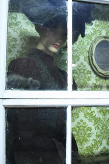 Lady under glass