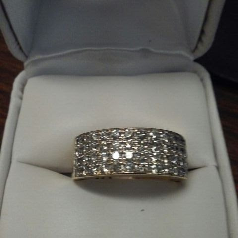 His or hers 14 k Yellow Gold with over a carat of diamonds