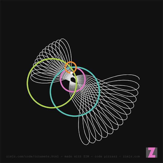 ZIM Ornamate – Wow!  You have to try this!  It is #Spirograph meets the #HTML #Canvas from #ZIMjs, #JavaScript and #CreateJS