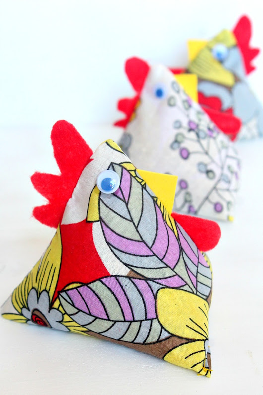 Chickens Fabric Weights Beginners Sewing Tutorial