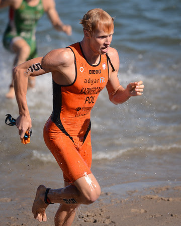 Mateusz Kazmierczak - Subaru Mooloolaba Men's ITU Triathlon World Cup - Mooloolaba Multi Sport Festival Super Saturday, 15 March 2014 - Mooloolaba, Sunshine Coast, Queensland, Australia. Photos by Des Thureson - http://disci.smugmug.com - Camera 1.