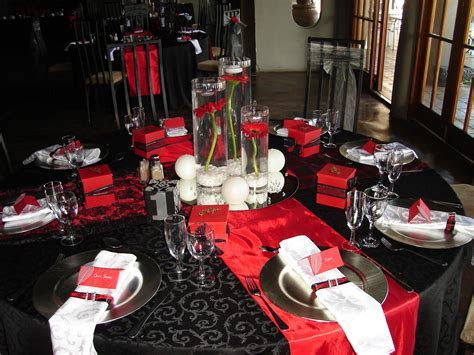 black, red, silver wedding   Black Red White & Silver