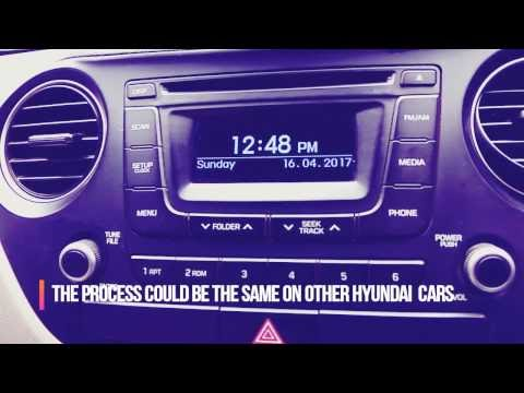 How to delete or remove music files from the internal storage of Hyundai car?