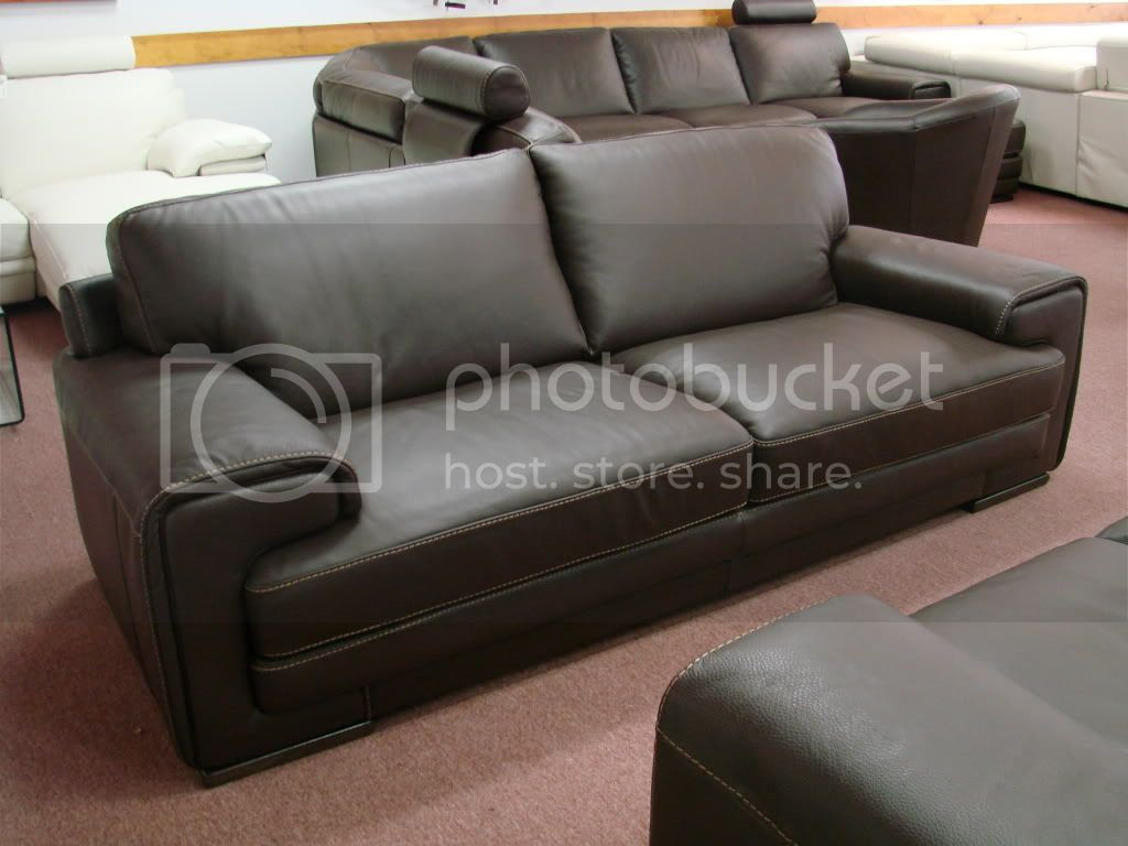 Natuzzi Dallas 2277 Leather Sofa In Brown Leather Pictures ...