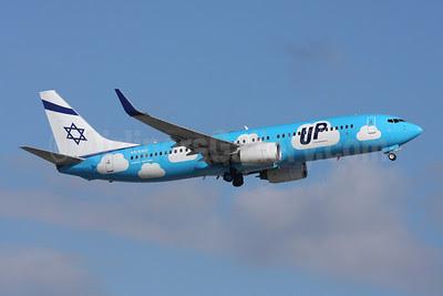 Up by El Al (El Al Israel Airlines) Boeing 737-86Q WL 4X-EKO (msn 30287) ZRH (Andi Hiltl). Image: 922137.