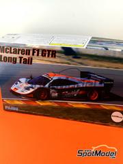 Maqueta de coche 1/24 Fujimi - McLaren F1 GTR Long Tail Gulf Davidoff Nº 1 - Lee + Olofson - 24 Horas de Le Mans 1997 - maqueta de plástico y fotograbados