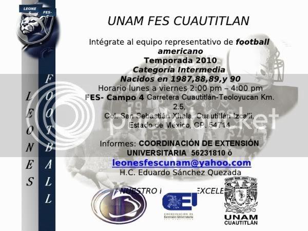 Convocatoria Leones FES Cuautitlán