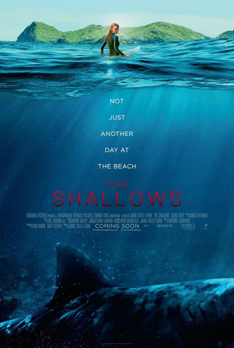 NosVamosAlCine, película, cartelera, cine, The Shallows, Infierno Azul, blog de cine, solo yo, blog solo yo, thriller, aventuras marinas, tiburones, supervivencia, suspense.