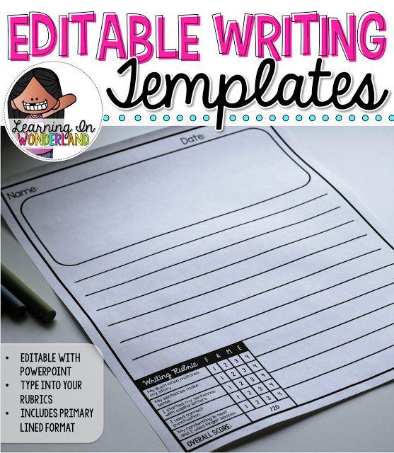 Time Saving Writing Templates with Embedded Rubrics! | Time saving ...