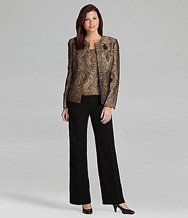 Dillard's Pant Suits for Weddings   Kasper 3 Piece