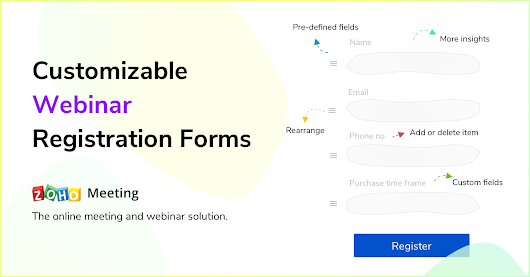 Understand your leads better with customizable webinar registration forms. « Zoho Blog