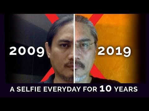 Uncle gedek took a selfie everyday for 10 years