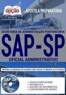 Apostila concurso SAP-SP oficial administrativo 2018