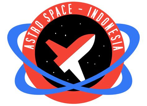 photoshop membuat logo simpel astro space indonesia