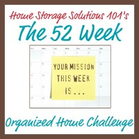 52 Week Organized Home Challenge