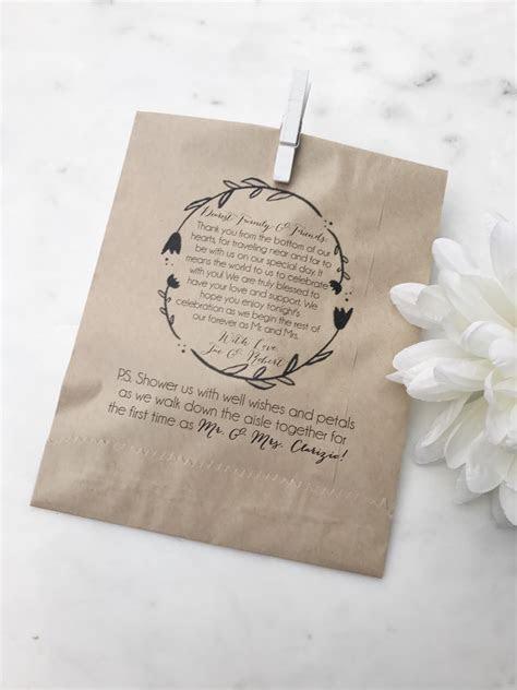 Love Laughter Wedding Program Bag   SALTED Design Studio