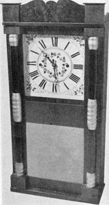 3. The same clock as above, showing a typical style of casing used by Pratt & Frost.