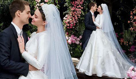 Miranda Kerr Stuns On Her Wedding Day In Custom Made Dior