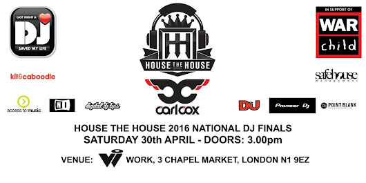House the House 2016 - National Final - Win 2 Tickets for Carl Cox at the House of Commons