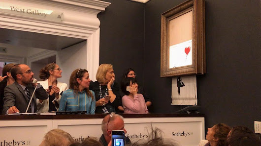 Watch this $1.4 million worth Banksy artwork self-destruct after auction