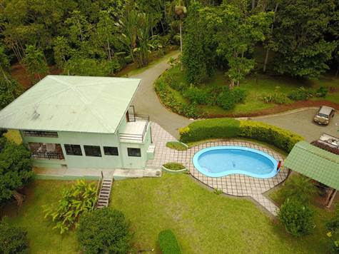 10.77 ACRES – 2 Bedr. Home w/Pool Plus 1 Bedr. Guest House w/Amazing Mountain View & Ocean Window!!! - Costa Rica Real Estate