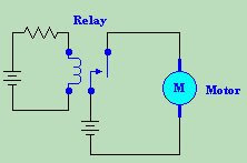 Relay and Motor Schematic