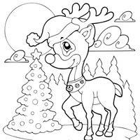 Dibujos De Navidad De Renos Para Colorear Imagesacolorierwebsite