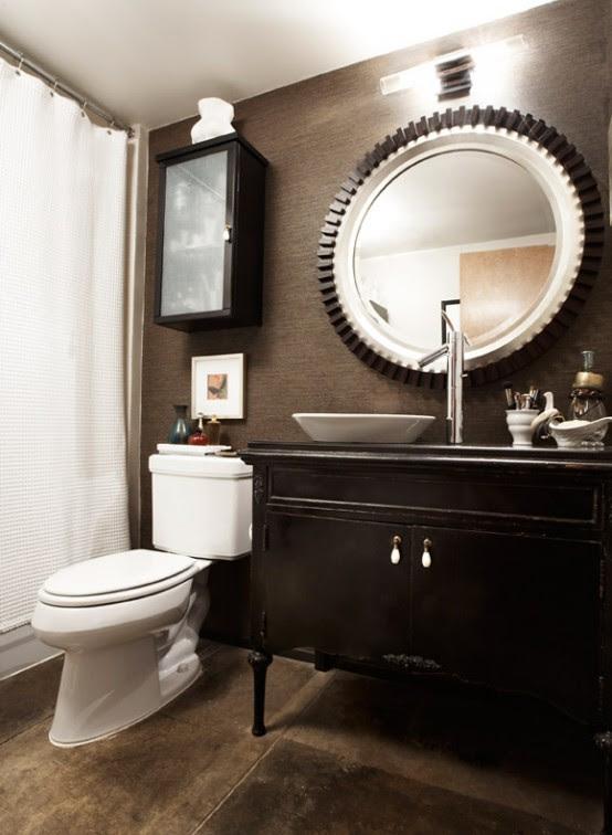 masculine bathroom wall decor