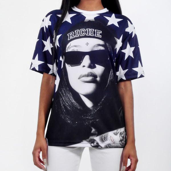 aaliyah revolution riche t-shirt