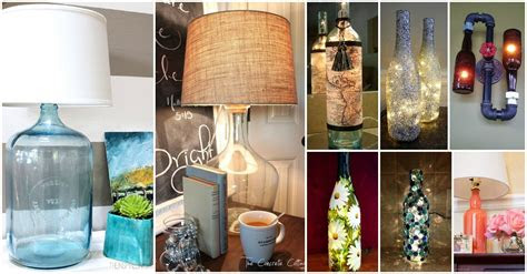 diy bottle lamps decor ideas   add uniqueness