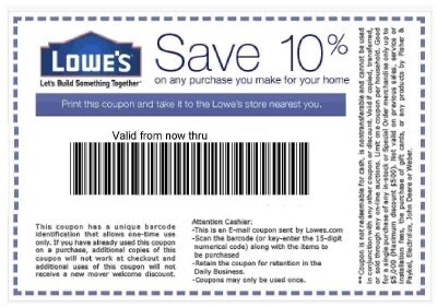 Lowes 10 Off Coupons & Lowes Project Starter 10 Off 50 Are Coupons For Lowes That Provide A Lowes Promo Code, Printable Lowes Coupons, 10% Off Lowes Instant.