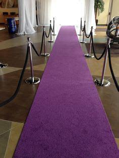 Purple carpet for event.   Mardi Gras   Carpet runner