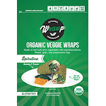 Wrawp 1858877 5.3 oz Warp Organic Veggie Flatbread Spirulina - Case of 8