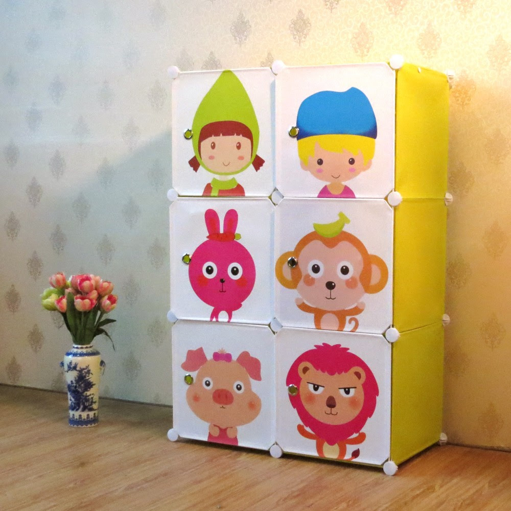 Clearance Buddies Kids Storage Boxes and Wardrobe 6 Cubes