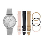 Anne Klein Silver Dial Ladies Watch Set AK/3419SVST