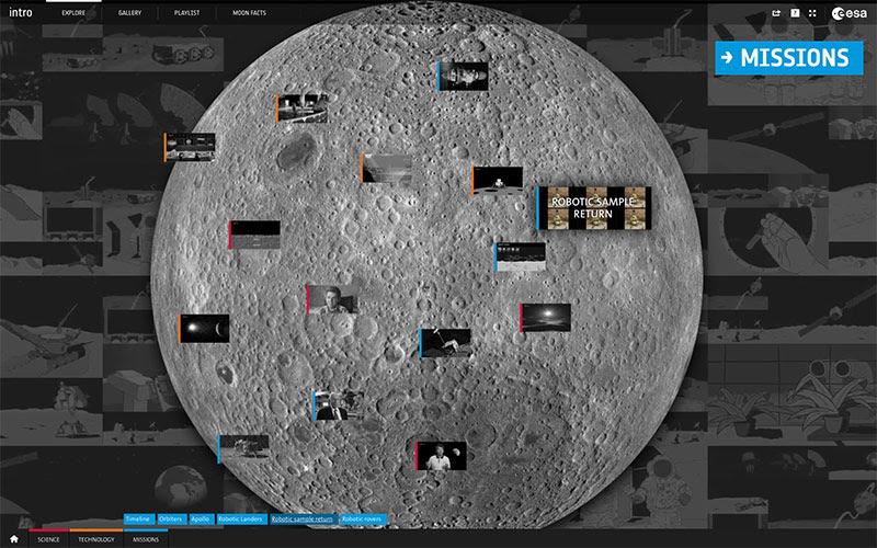Pantalla principal de Lunar Exploration