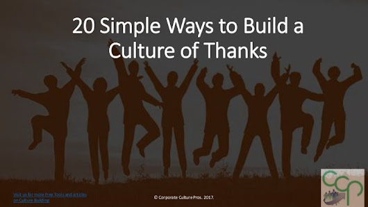 20 Best Ways to Build a Culture of Thanks