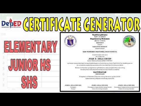 Certificate Generator | Generate 1k Certificates in A Single Click (Free Download)