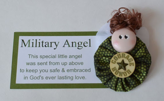 Military Angel Magnet Honor / Courage by CraftingwLisaMarie