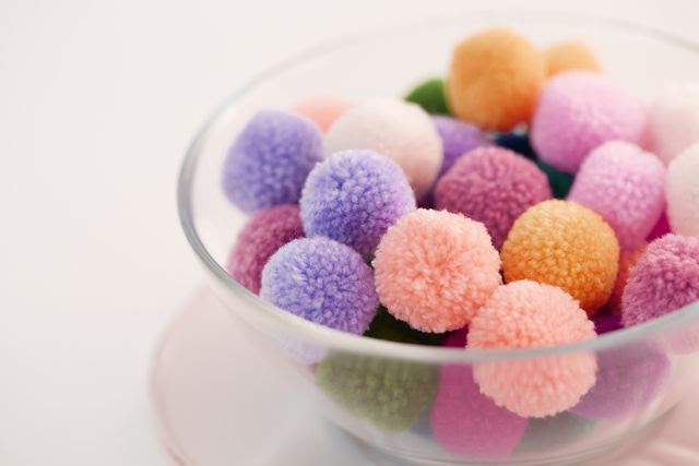 pom poms in a bowl - sudo takeshi/Stockbyte/Getty Images