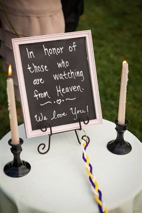 Unique Wedding Memorial Ideas: In Loving Memory   DIYs
