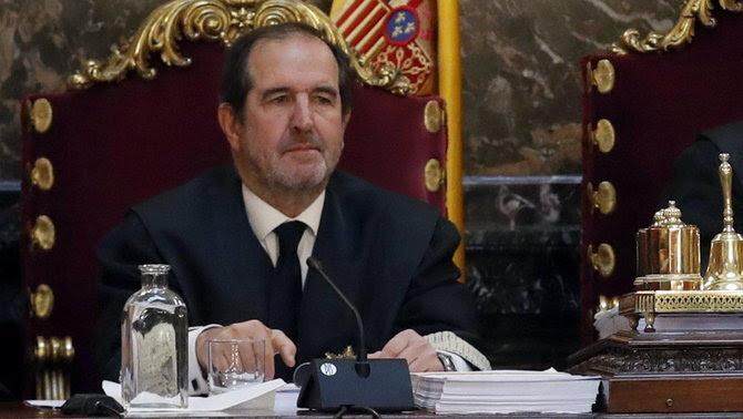El jutge del Suprem Andrés Martínez Arrieta, el març del 2018 durant la vista pel recurs d'Urdangarin sobre el cas Nóos (ACN)