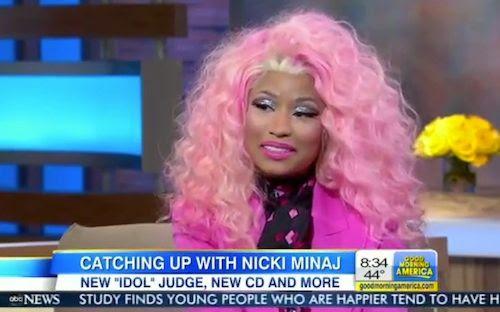 Good Morning America (November 2012), Nicki Minaj
