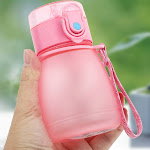 308ml Children Baby Compact Portable Water Bottle With Straw Rope (Pink)
