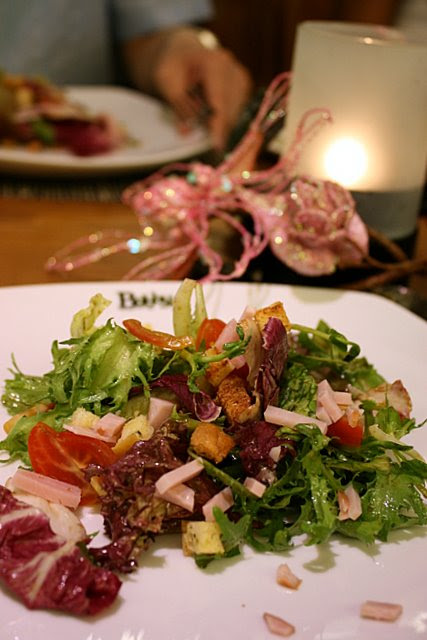 Festive Tossed Salad with Honey Baked Ham