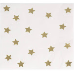 Juvale Cocktail Napkins - Gold Foil Star Disposable Paper Napkins, 3-Ply, Birthday, Bridal Shower Party Decoration Supplies, Folded 5 x 5 Inches